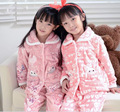 Invierno Niños Niñas niños Pijamas Pijamas ropa de Dormir de Franela Coral Polar Pijamas Sistemas de los Cabritos 3-13Y Kids Ropa de Dormir/Homewear
