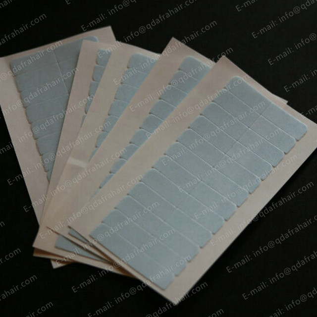 12unit/sheet Blue Liner Strong Double Tape for Skin Hair Weft Wig Extensions Adhesive T037