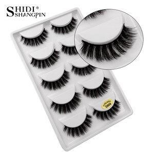 Image 2 - New 10 lots wholesale factory price mink false eyelashes hand made false eyelash natural long 3d mink lashes makeup faux cils