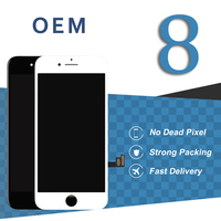 Original OEM Display For Iphone 8 LCD Touch Screen White Black Screen Pantalla Assembly Digitizer Smartphone