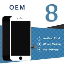 Оригинальный OEM Дисплей для iphone 8 ЖК-дисплей Сенсорный экран белый черный Экран Pantalla сборка планшета смартфон Запчасти для авто