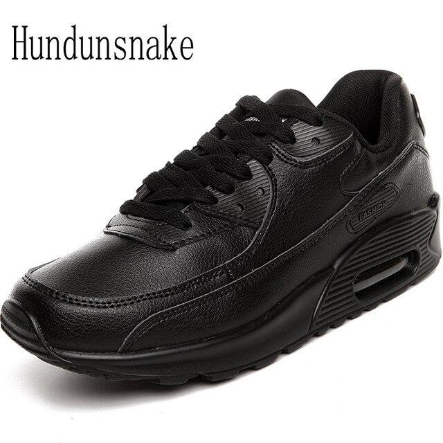 fb72fc05 Hundunsnake кожаные кроссовки мужские черные Air мужской обуви спорт для  взрослых кроссовки для Для мужчин красовки