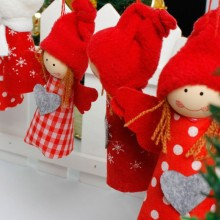 3Pcs Cute Girl Christmas Decorations Christmas Tree Pendant