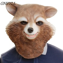GNHYLL Avengers Alliance 3 Hot Selling Realistic Animal Head Carnival Party Latex Raccoon Mask Cosplay party mask(China)