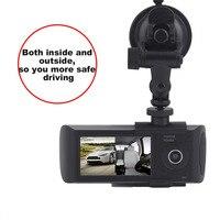 プロフェッショナルフルhd 1080 p 2.7インチ車のビデオレコーダー液晶ディスプレイデュアルレンズ車dvrカムビデオレコー