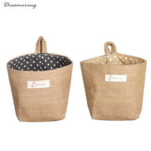 Polka Dot Small Storage Sack Cloth Hanging Non Woven Storage Basket  High Quality Hot Sale Wholesale Free Shipping,Dec 29