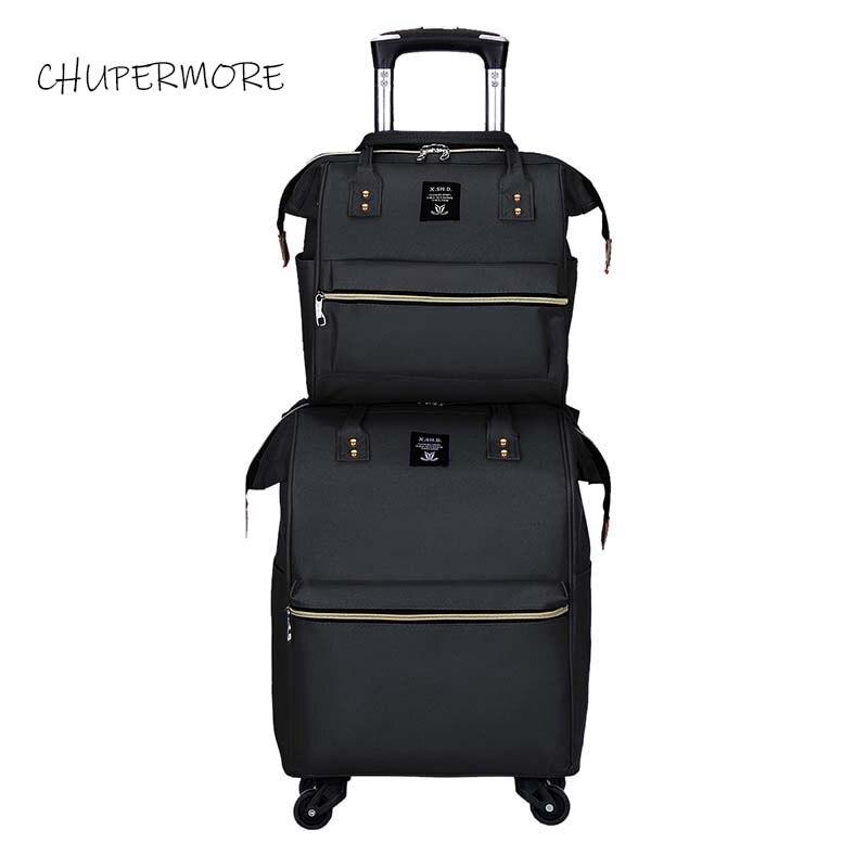 Chupermore Ultralight Oxford Rolling Bagage Set Spinner Vrouwen Merk Koffer Wielen 20 inch Carry Op Trolley-in Koffers van Bagage & Tassen op  Groep 2