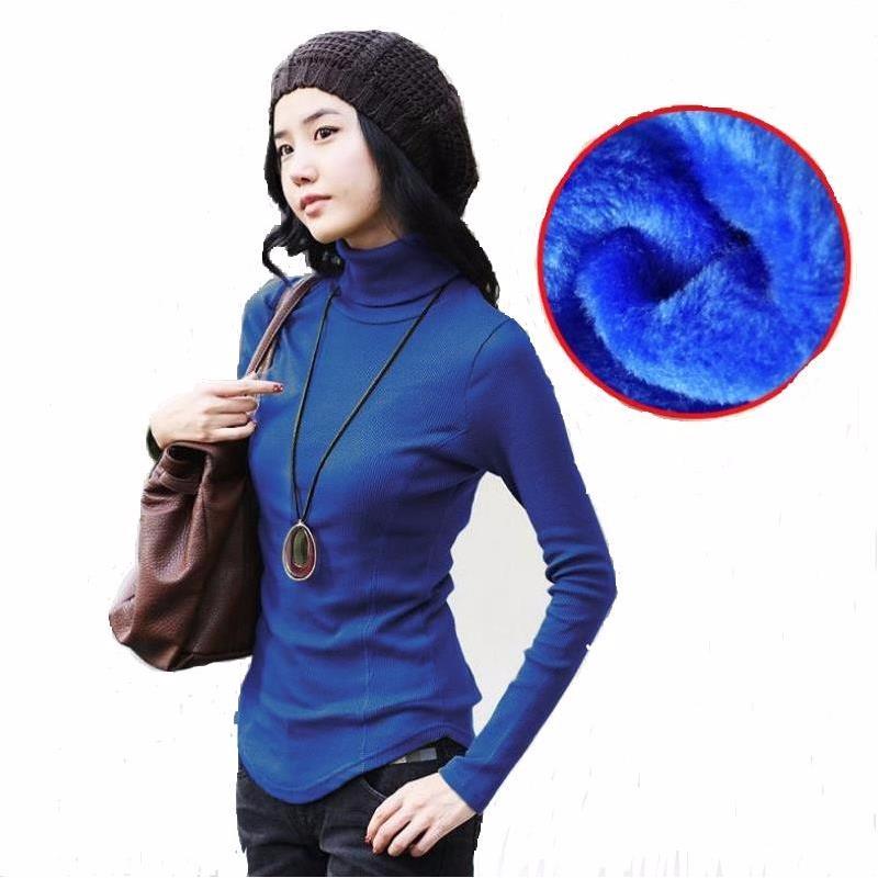 Կանացի թավշյա բուրդ սվիտեր Երկար թևեր - Կանացի հագուստ