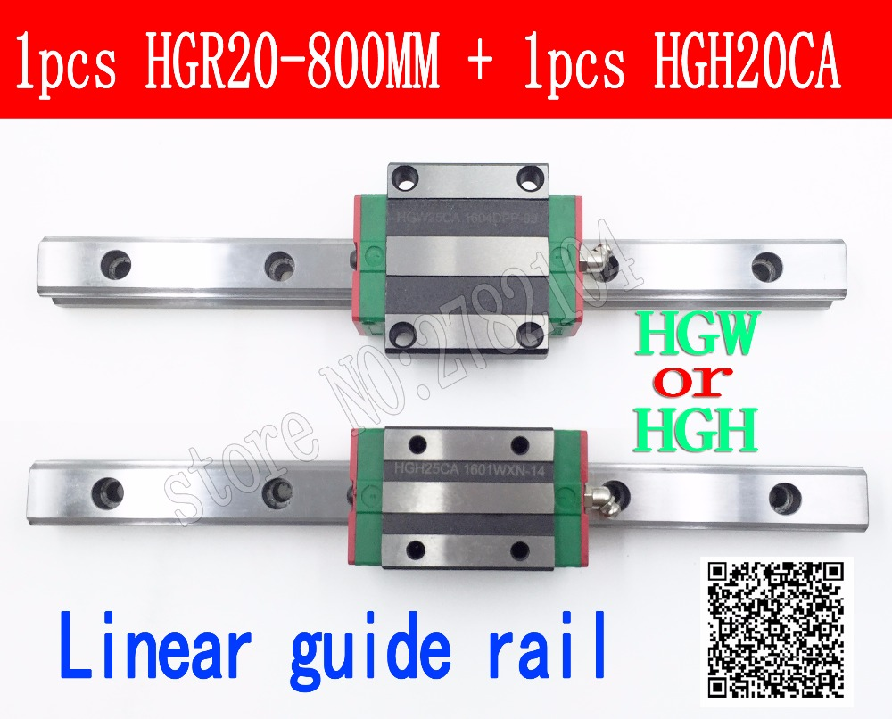 New linear guide rail HGR20 800mm long with 1pc linear block carriage HGH20CA HGH20 HGW20CC CNC partsNew linear guide rail HGR20 800mm long with 1pc linear block carriage HGH20CA HGH20 HGW20CC CNC parts