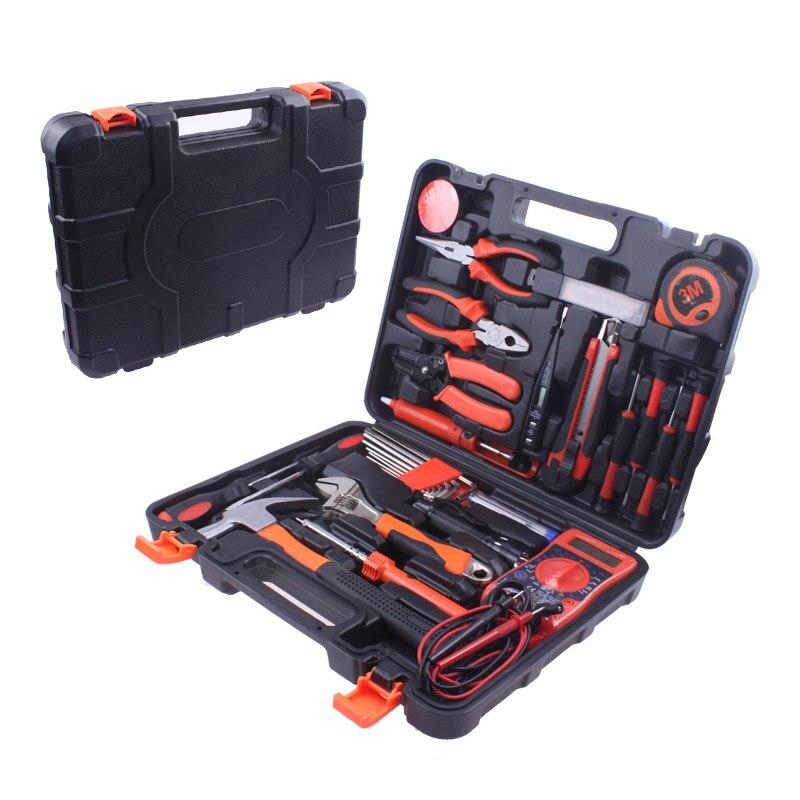 35 pcs Combinaison électricien outil de réparation d'accessoires de boîte à outils à main ensemble de Clé ménage multi trousse à outils Herramientas DN155