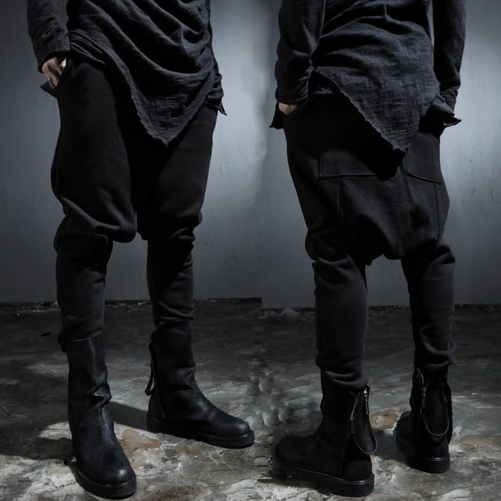 27-42!! Mens clothing hanging crotch pants non-mainstream personality low-rise fashion boot cut jeans harem pants