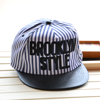 c26497cd7ee0a Hot sale fashion ny brooklyn style letters striped hip hop cap adjustable baseball  caps flat hat casual snapback