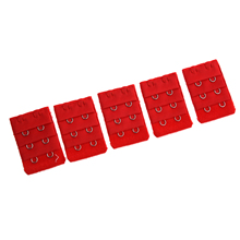 5 pcs Red Bra Extension Replacement Extenders 2 Hooks