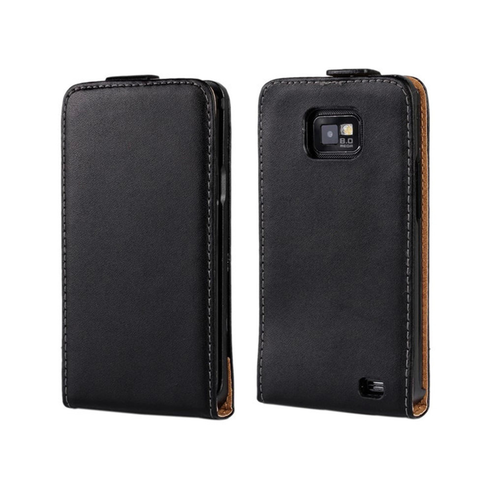 Luxury Genuine Leather Case Flip Cover For Samsung Galaxy S2 II Plus I9105 I9100 Phone Case Free Shipping