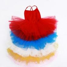 Лебединое озеро гимнастическое трико для девочек балетное платье-пачка детские костюмы для лирических танцев без рукавов Детский комбинезон из лайкры