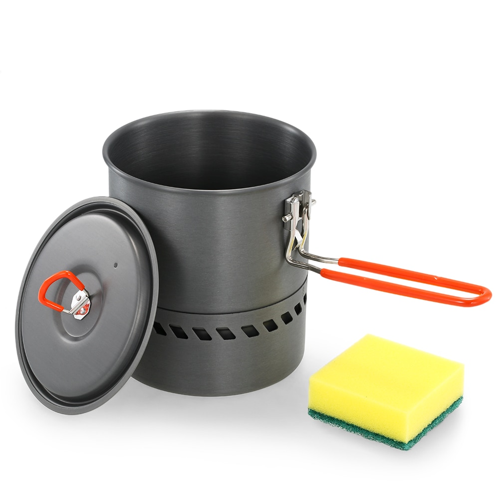1.5L One Piece Camping Stove Heat Exchanger Pot Outdoor