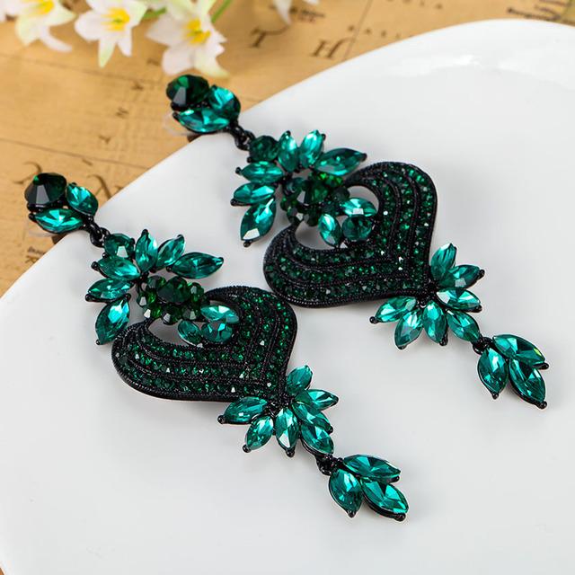 Marca de luxo de Noiva Acessórios Do Casamento Colar Brinco Turco Mulheres Moda Verde Brincos Max Brincos Grandes grande Brinco Bijoux
