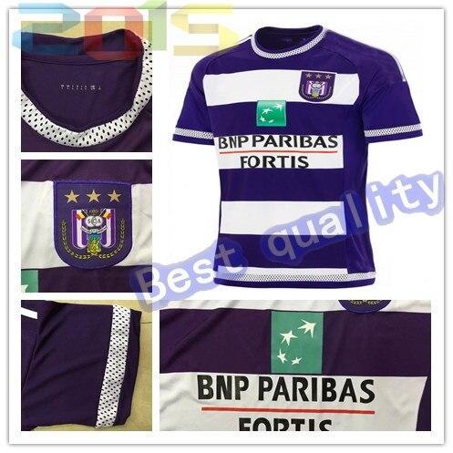 058e4a0338b Anderlecht Jersey rsc anderlecht home 15/16 Belgium Pro League Soccer  Jersey best quality 2015/2016 football shirt
