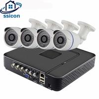 Ssicon 4ch CCTV Системы 4 канала 1080 P AHD dvr комплект Водонепроницаемый открытый sony323 2mp AHD Камера безопасности Товары теле и видеонаблюдения Системы