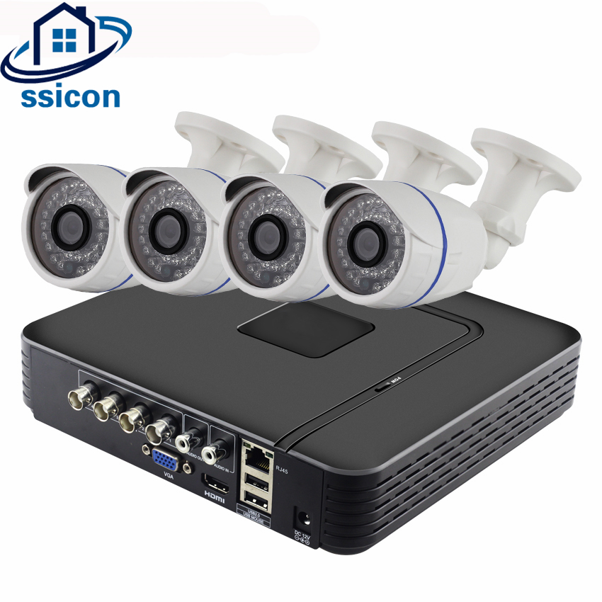 SSICON 4CH CCTV System 4Channel 1080P AHD DVR Kit Waterproof Outdoor SONY323 2MP AHD Camera Security Video Surveillance SystemSSICON 4CH CCTV System 4Channel 1080P AHD DVR Kit Waterproof Outdoor SONY323 2MP AHD Camera Security Video Surveillance System
