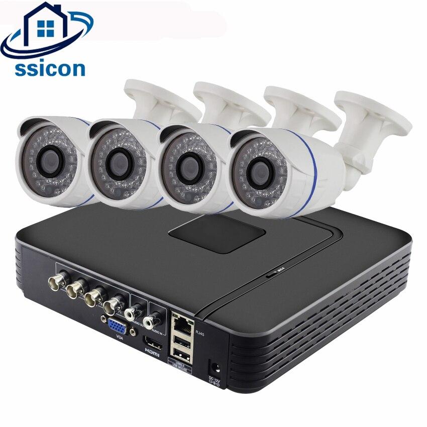 SSICON 4CH système de vidéosurveillance 4 canaux 1080 P AHD DVR Kit étanche extérieur SONY323 2MP AHD caméra système de Surveillance vidéo de sécurité