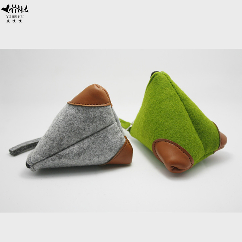 The Cheapest Price Cheap Fashion Coin Purse Wallet Women Men Coin Purses Wool Triangle Coin Small Change Pouch Bag Wallets Free Shipping Excellent Quality Luggage & Bags Coin Purses & Holders