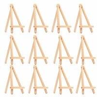 12 قطع الاطفال البسيطة حامل خشبي الفن اللوحة اسم بطاقة حامل عرض حامل الرسم للمدرسة طالب الفنان اللوازم ، (12 حزمة)|الحوامل|لوازم المكتب واللوازم المدرسية -