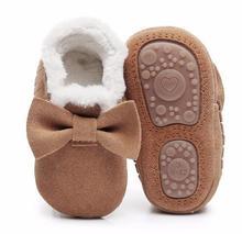2018 осень зима из натуральной замши детские мокасины обувь ручной работы с бантом бахрома малыша трудно единственным первые ходоки загрузки