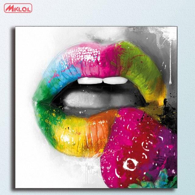 Grosse Fruchtig Kuss Ii Olgemalde Wandkunst Bild Paiting Leinwand