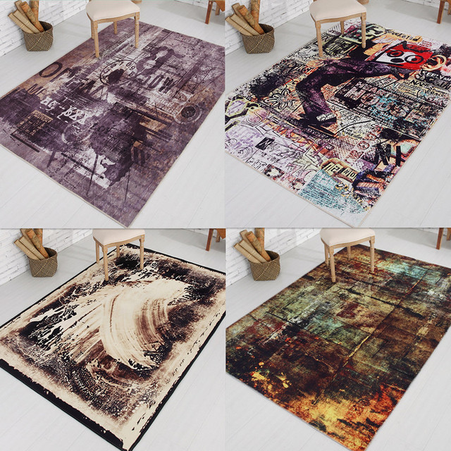 2017 New Modern Simplicity Bedroom Carpet Personality Abstraction Sitting  Room Office Rugs Table Floor Carpets Anti
