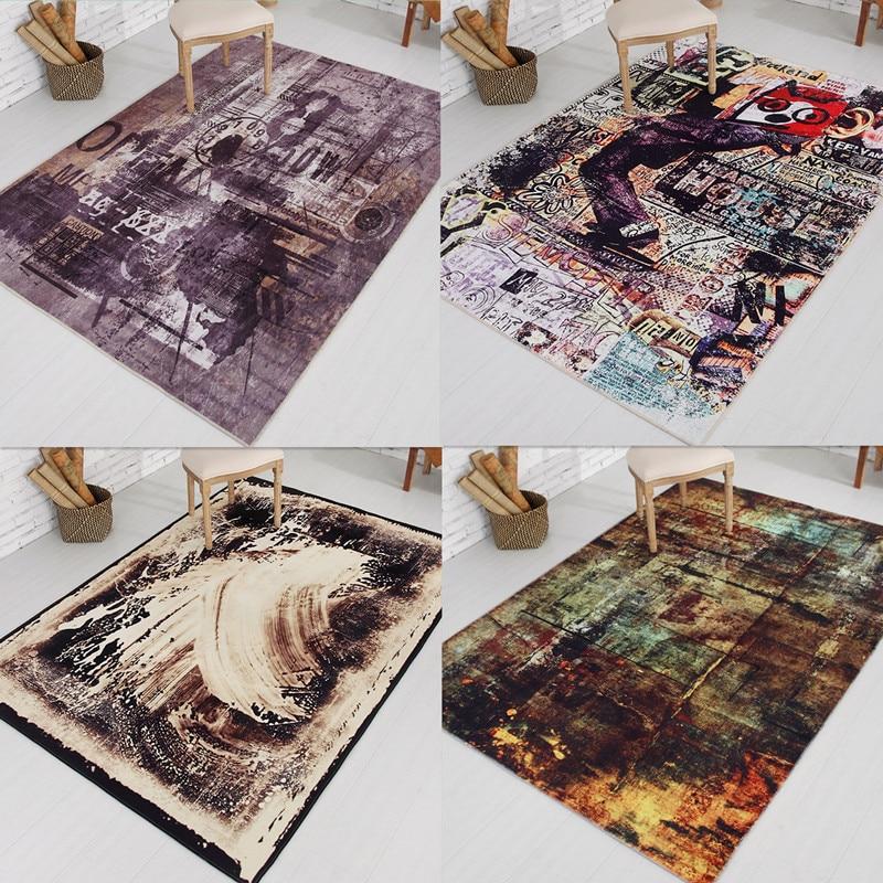 2017 Nouveau Moderne Simplicité Chambre Tapis Personnalité Abstraction Salon Bureau Tapis Table Tapis de Sol Anti-Slip Mat