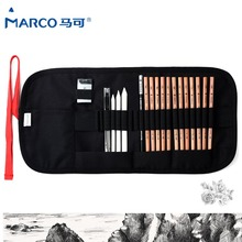 Marco Safe Non-toxic Sketch Pencils Artist Professional Pencils Set For Write Drawing Art Supplies School Student Stationery