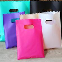 Пластиковые подарочные пакеты, пакеты для упаковки ювелирных изделий, красочные пластиковые пакеты для покупок 50 шт./лот