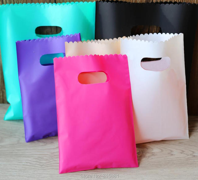 Plastic Gift Bags,jewelry Packaging Pouches, Colorful Plastic shopping bags 50pcs/lot