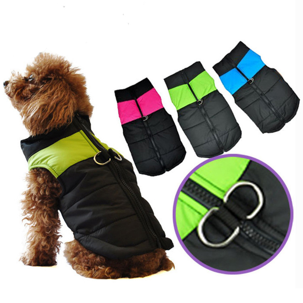 2019 New Style Small Medium Dog Winter Quilted Puffer Puffa Vest Coat Harness Jacket Jersey Perro Yorkshire Terrier Chaleco Perro Shih Tzu K25 Drip-Dry Dog Clothing & Shoes Home & Garden