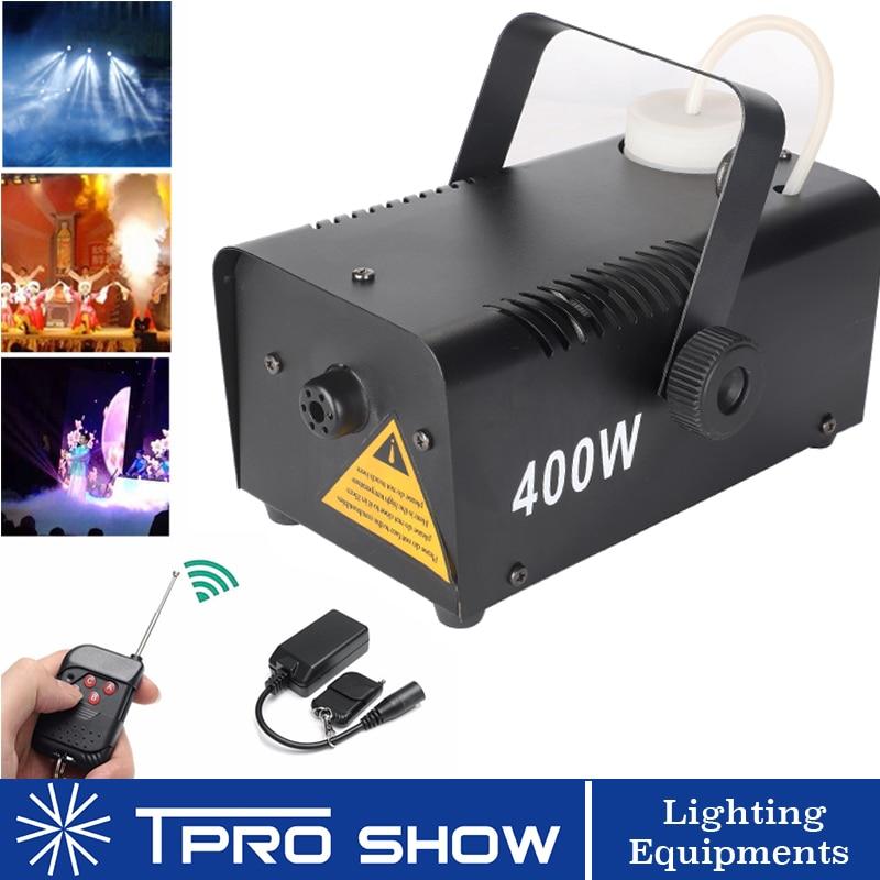 Wireless Smoke Machine 400W Fogger Remote Mini Fog Generator Stage Lighting Effect For Disco DJ Party Enhance LED Beam Visible