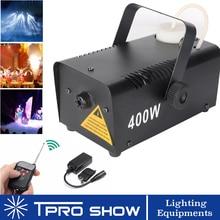 цена на Wireless Smoke Machine 400W Fogger Remote Mini Fog Generator Stage Lighting Effect For Disco DJ Party Enhance LED Beam Visible