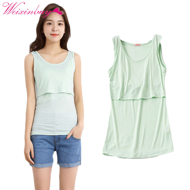 Womens Clothing for Pregnant Women Breastfeeding Vest Tops Plain Cotton Pregnant Women Vests Womens Tops T-Shirts Maternity