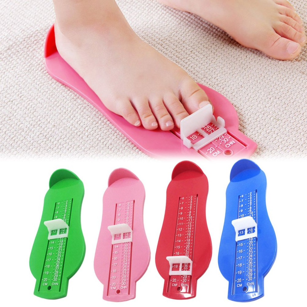 OUTAD 4 Colors Foot Measure Tool ABS Baby Care Kid Infant Foot Measure Gauge Shoes Size Measuring Ruler Tools 0-20cm Dropship 7 colors kid infant foot measure gauge shoes size measuring ruler tool available abs baby car adjustable range 0 20cm size