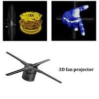 50 см WI FI 3D голографический проектор вентилятор четыре пазухе дизайн видео рекламный проектор свет приложение Управление светодиодный голо