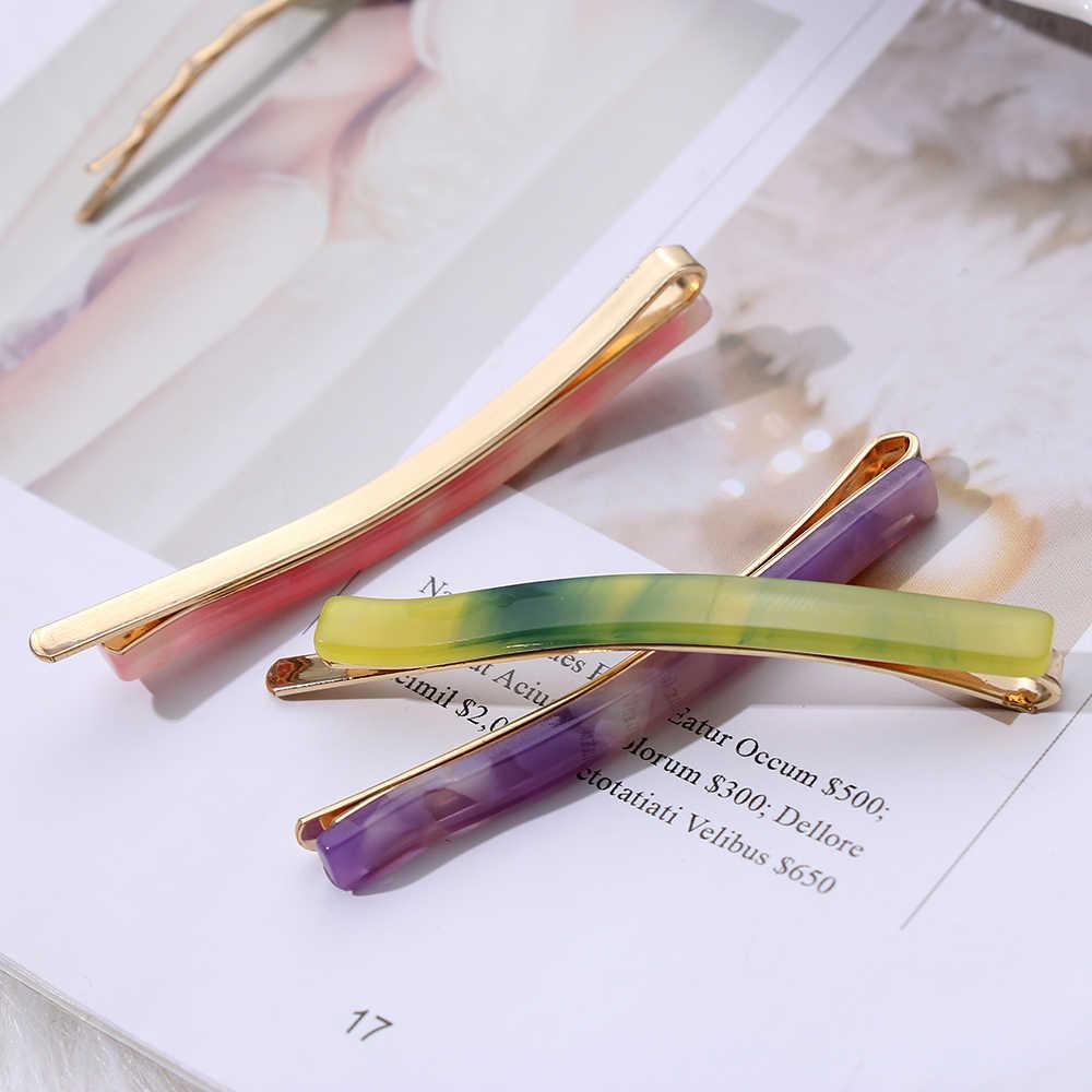 Разные цвета! 1 шт. трендовая уксусная кислота шпилька Треугольник длинные Красочные заколки для волос с камнем для укладки женских волос аксессуары