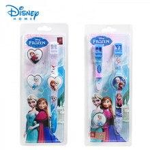 100% Genuino Disney relojes niños de Dibujos Animados de Moda Relojes de Pulsera Reloj de los niños Frozen Elsa para babys regalo de cumpleaños