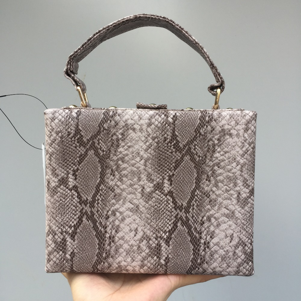 DAIWEI New Womens Fashion Small Handbag/Shoulder bag/Box/Bag Snakeskin grain PU leatherette All Seasons Casual Outdoor Office
