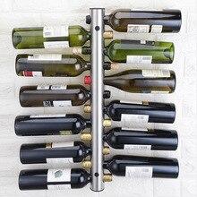 Нержавеющая сталь красный винный шкаф, настенный вертикальный креативный винный шкаф, бутылка настенный Европейский Стиль