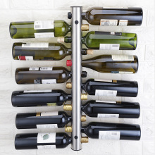 цена на Stainless steel red wine rack, wall hung vertical creative wine rack, Bottle wall mounted  European Style free shipping
