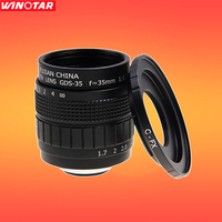 Fujian CCTV 35mm f1.7 Lens + Lente C-FX Monte Anel para Fuji Fujifilm X-T1 X-A1 X-A2 X-T2 X-T10 X-Pro1 X-E1-E2 x X-1M X-Pro2 X-MOUNT