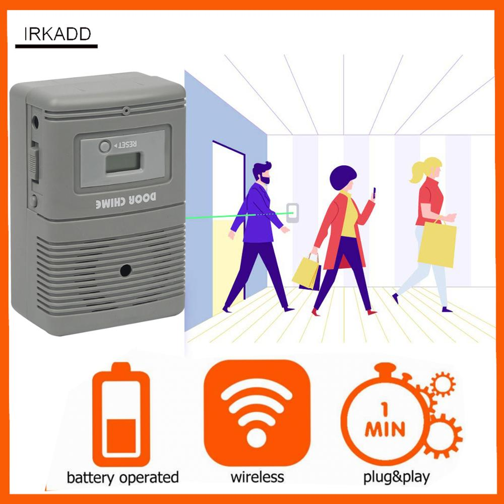 People Visitor Counter With Visitor Chime Function Wireless, Non Directional Footfall Counter   Door Counter   Customer Counter
