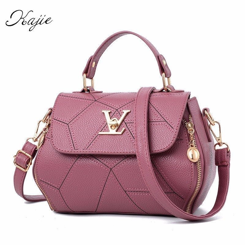 Kajie Fashion Bag Women Handbag Geometry Small V Style Loui Saddle Luxury Crossbody For Female Famous Messenger Bags Designer lacattura luxury handbag chain shoulder bags small clutch designer women leather crossbody bag girls messenger retro saddle bag