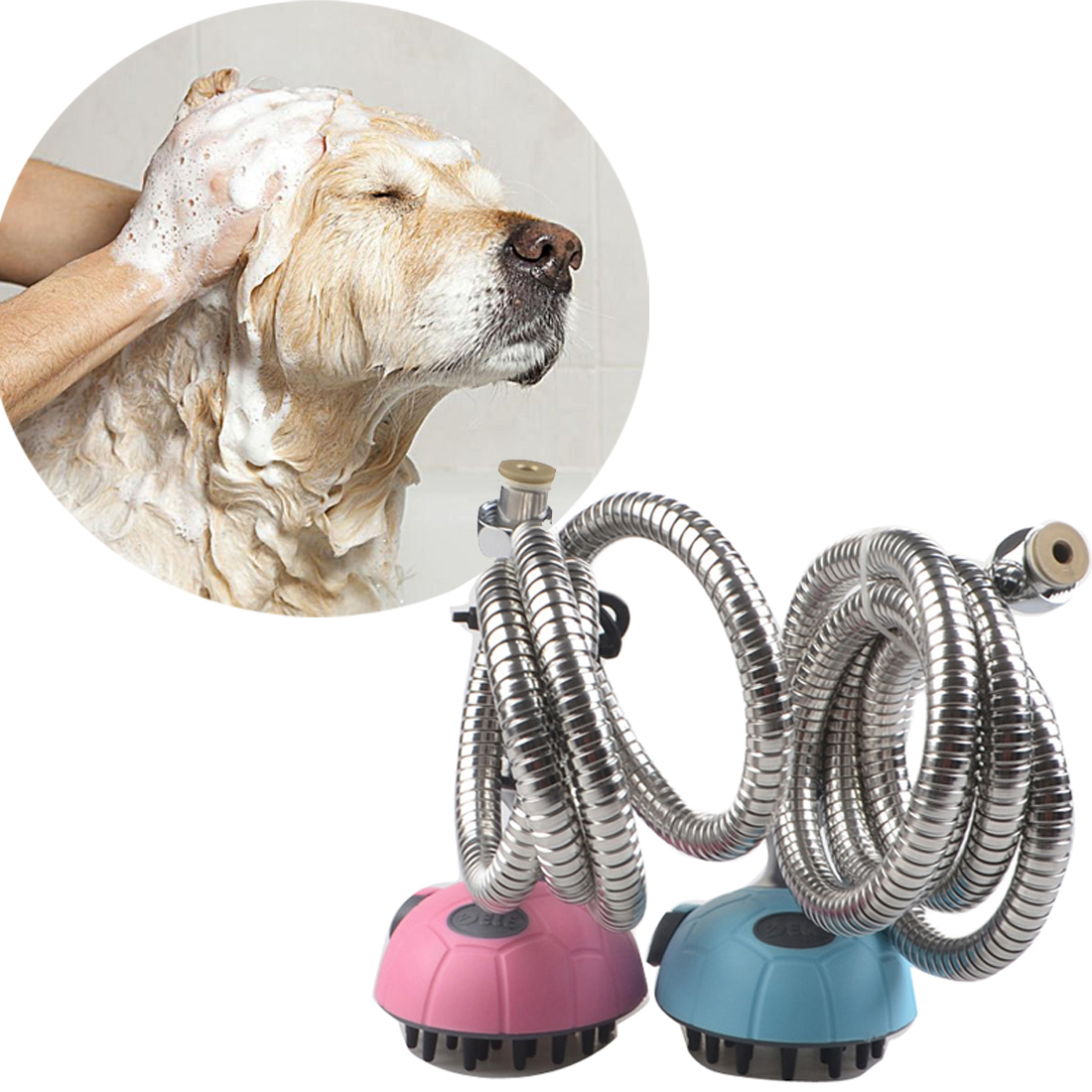 Multifunctional Pet Dog Cat Bath Shower Head Pet Animals Water Sprayer Cleaning Bathing Pet Massage shampoo