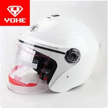 2017 Summer New YOHE half face motorcycle helmet motorbike safety helmets YH870A Made of ABS with PC lens Visor and SIZE M L XL